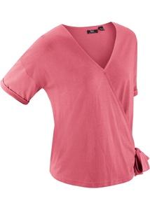 Sport-Shirt mit Wickeloptik, halbarm