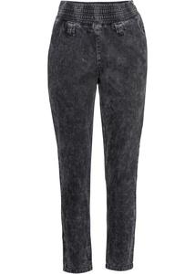 Jeans mit elastischem Bund und seitlichem Reißverschluss