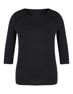 Viventy - Basic-Shirt mit Spitzenbesatz