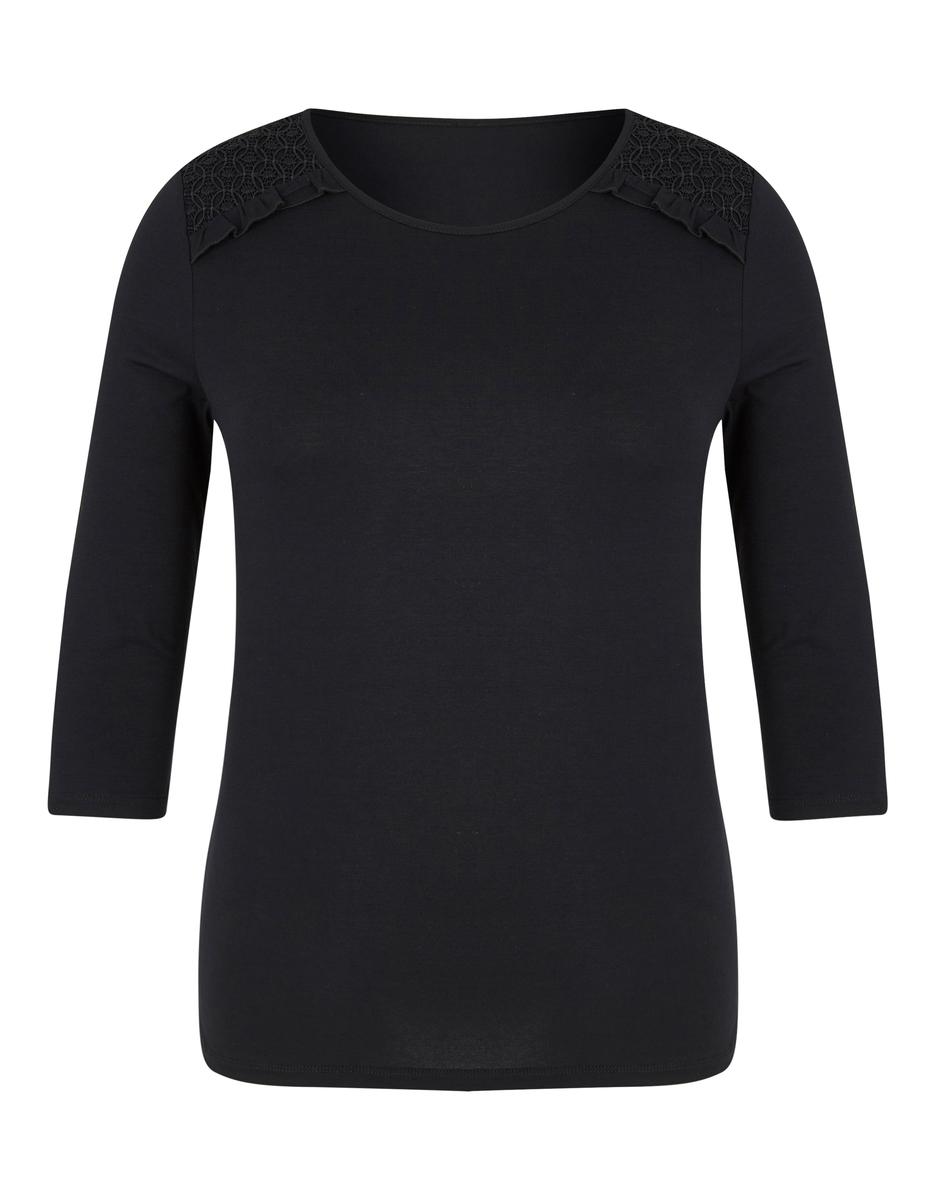 Bild 1 von Viventy - Basic-Shirt mit Spitzenbesatz
