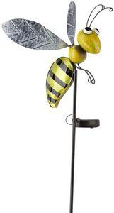 LED-Solarstecker - Biene - aus Metall - 116 x 23 cm
