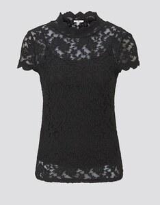 TOM TAILOR - T-Shirt aus Spitze mit verspieltem Stehkragen