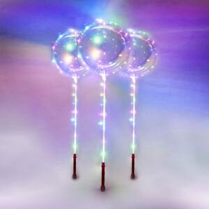 I-Glow LED Ballons, 3er Set - Rot
