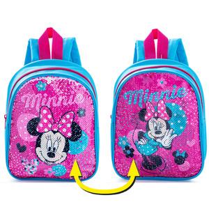 Kinder Lizenz Rucksack mit Wendepailetten - Minnie Mouse