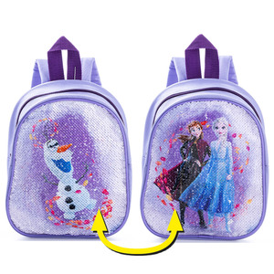 Kinder Lizenz Rucksack mit Wendepailetten - Frozen Flieder/Lila