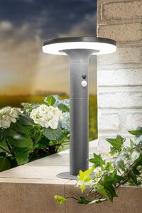 I-Glow SMD LED Solar Premium-Stehleuchte mit XL-Solarpanel