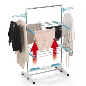 EASYmaxx Wäscheständer elektrisch 17W weiß/türkis mit Trocknerfunktion