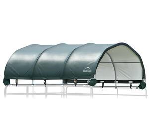 ShelterLogic Pferdestallüberdachung 13,7 m² grün