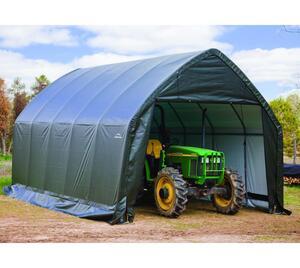 ShelterLogic Foliengerätehaus und Garage 23,8 m² grau