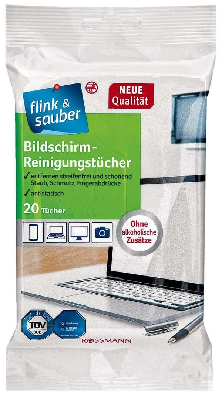 flink & sauber Bildschirm-Reinigungstücher
