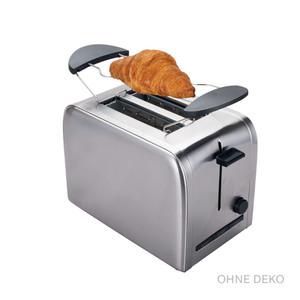 TecTro Toaster aus Edelstahl TA 191 in Silberoptik