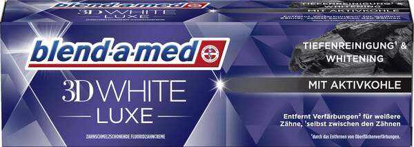 Blend-a-med 3D White Luxe Aktivkohle Zahncreme