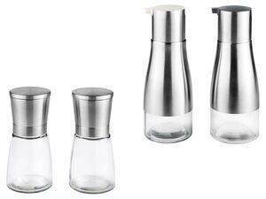 ERNESTO® Salz- und Pfeffermühlen/  Essig-Öl Spender, 2 Stück