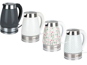 SILVERCREST® Wasserkocher, 1,7 l Fassungsvermögen, mit Keramikgehäuse, Kalkfilter