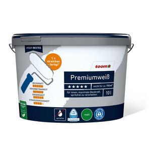 Premiumweiß 10 ltr., inkl. Schnellfüllspachtel und Abdeckfolie