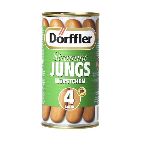 Dörffler Stramme Jungs oder kleine Dörffler im Saitling,  jede 4 Stück = 250-g-Dose / 5 Stück = 250-g-Dose