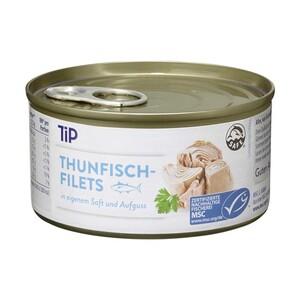 MSC Thunfischfilets in eigenem Saft oder in Sonnenblumenöl jede-195-g-Dose