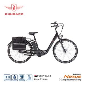 Alu-Elektro-Fahrrad Green 3.0 26er oder 28er - Fahrunterstützung bis ca. 25 km/h - Li-Ionen-Akku 36 V/10,4 Ah, 374 Wh - Reichweite: bis zu 100 km pro Akku (je nach Fahrweise) - wartungsfreier Blaupu
