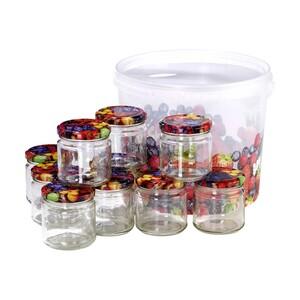Einmachgläser - je 212 ml Inhalt - inkl. Aufbewahrungsbehälter, 10er-Set