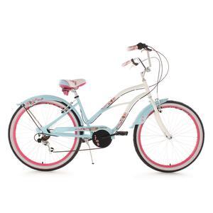 KS Cycling Beach-Cruiser 26 Zoll Cherry Blossom Blau für Damen