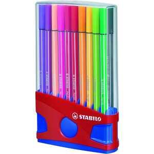 Stabilo Pen 68 Fasermaler sortiert Nr. 6820-04 PA 20Stk Strichtstärke1mm