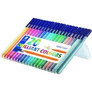 Staedtler Filzstifte triplus color DRY SAFE 20 Farben in Aufstellbox