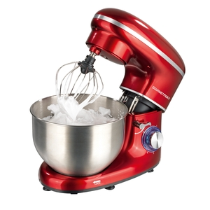 Gourmetmaxx Küchenmaschine mit 6 Geschwindigkeitsstufen und Turbofunktion rot