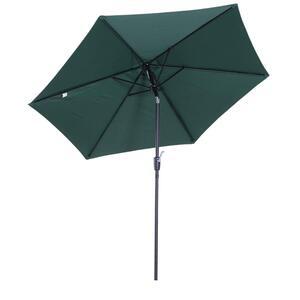 Outsunny Sonnenschirm mit Handkurbel grün