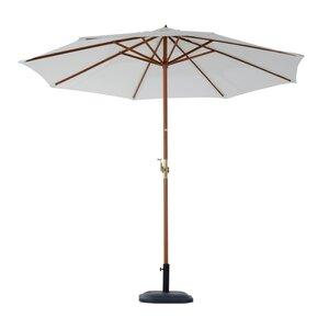 Outsunny Sonnenschirm mit Handkurbel cremeweiß/natur