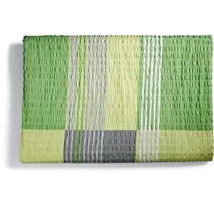Dekor Seersucker Bettwäsche ÜG, ca. 155 x 220 cm, verschiedene Designs - Karo grün