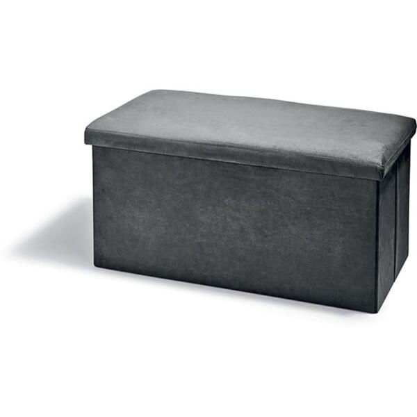 Dekor Sitz- und Aufbewahrungsbox, verschiedene Farbvarianten - grau