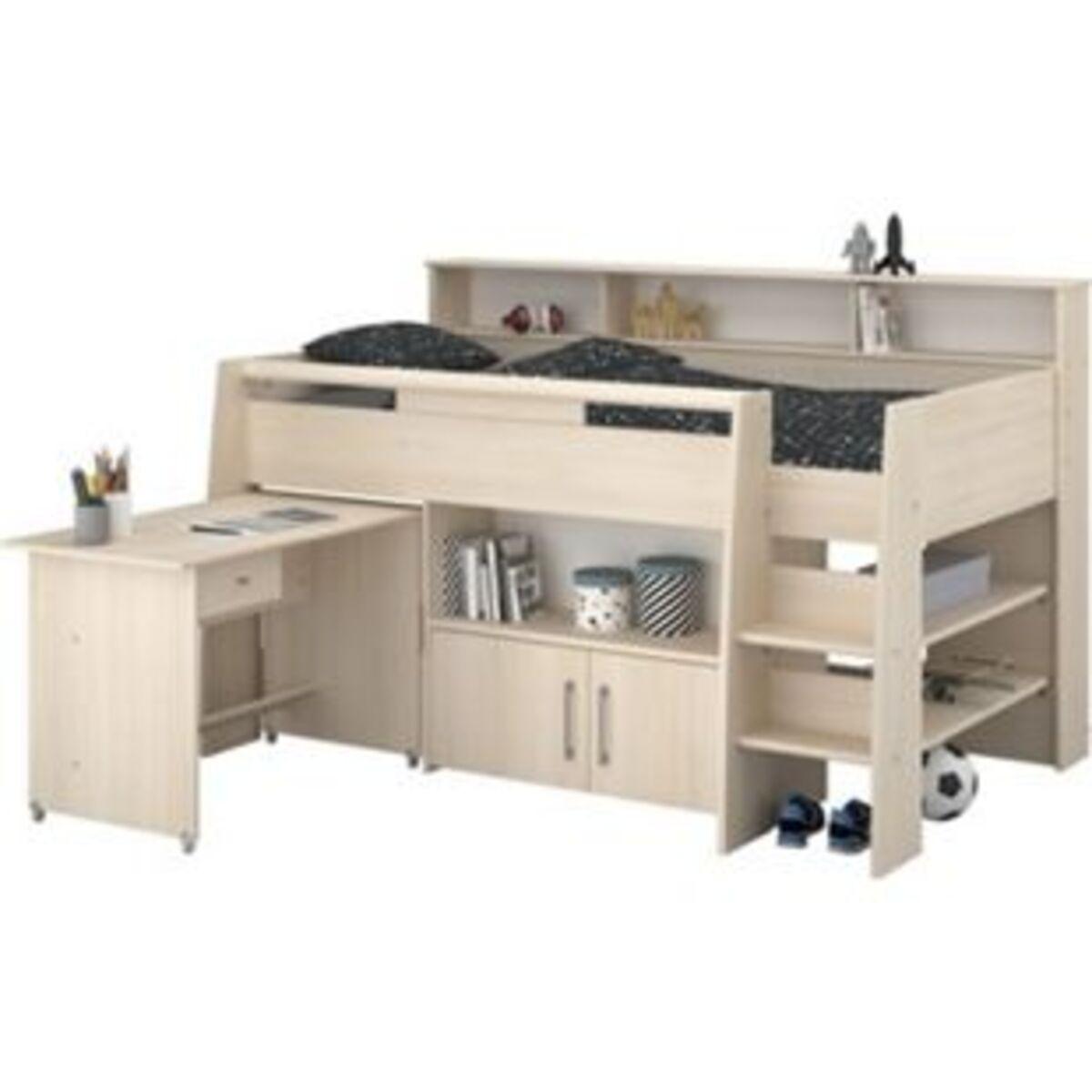 Bild 2 von Parisot Hochbett Charly 2 mit integriertem  Schreibtisch