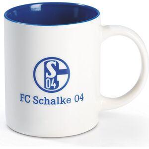 S04 Kaffeebecher 350ml blau/weiß mit Logo
