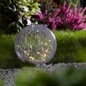 Kugel-Solarleuchte aus Glas (Ø 25 cm)