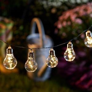 Solar-Lichterkette Glühbirne (klar)