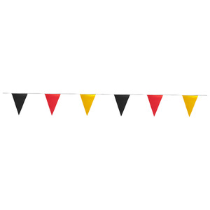 Fanartikel Flaggengirlande (Wimpel, schwarz-rot-gold)