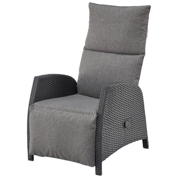 Komfortsessel Melbourne Schwarz Grau Mit Auflage Von Danisches