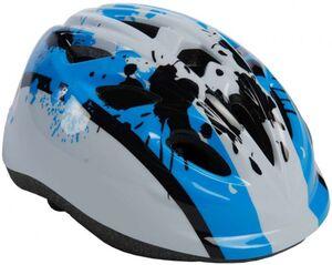Kinder-Fahrradhelm - weiß/blau