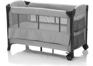 Reisebett - aus Alu mit Sicherungsgurt und Transporttasche - in grau