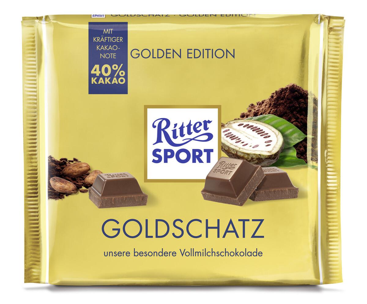 Bild 2 von Ritter Sport Goldschatz 250 g