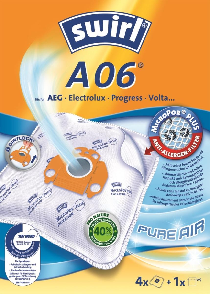 Bild 2 von Swirl Staubsaugerbeutel A06 MicroPor Plus Pure Air 4 Stück