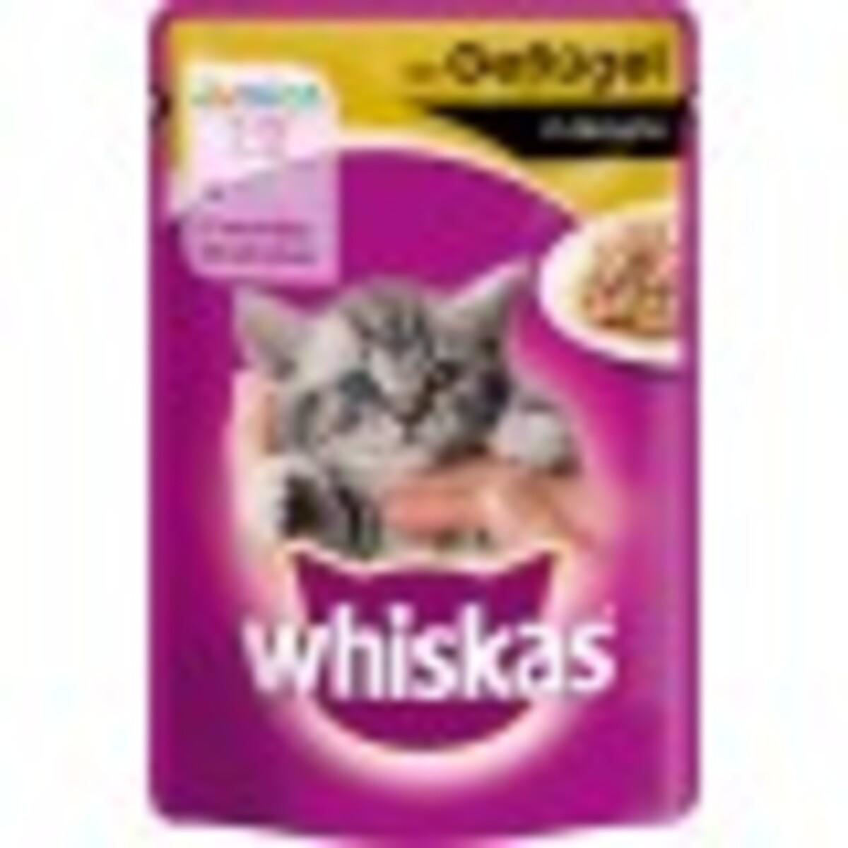 Bild 1 von Whiskas Junior mit Geflügel in Sauce Katzenfutter nass Beutel 100 g