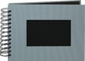 Paradies Profialbum 18x23cm, 50 Seiten grau, schwarze Seiten