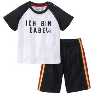 Baby T-Shirt und Shorts mit Deutschlandfarben