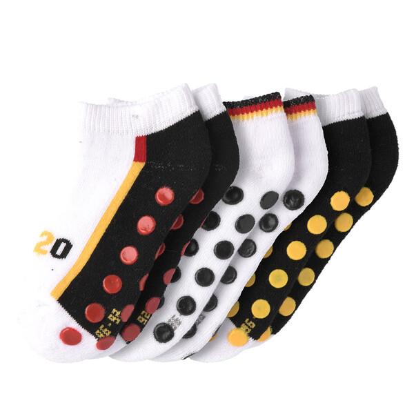 3 Baby Sneaker-Socken in Deutschlandfarben