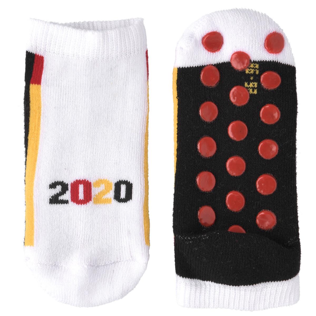 Bild 2 von 3 Baby Sneaker-Socken in Deutschlandfarben