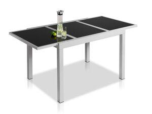 FLORABEST Alu-Gartentisch ausziehbar, Grau