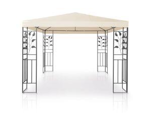 FLORABEST Pavillon, UV-Schutz 50+, mit Blatt-Ornament, Stahlgestell, inklusive Erdnägel