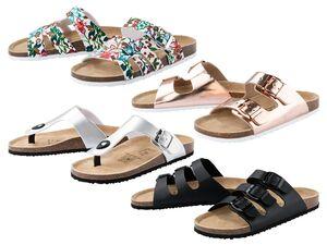 ESMARA®  Pantoletten Damen, anatomisch geformtes Fußbett, Lederdecksohle und Textilfutter