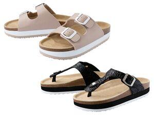 ESMARA®  Plateau-Pantoletten Damen, anatomisch geformtes Fußbett, mit Lederdecksohle